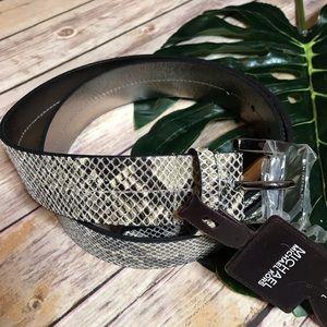 NWT Michael Kors Snakeskin Leather Belt L